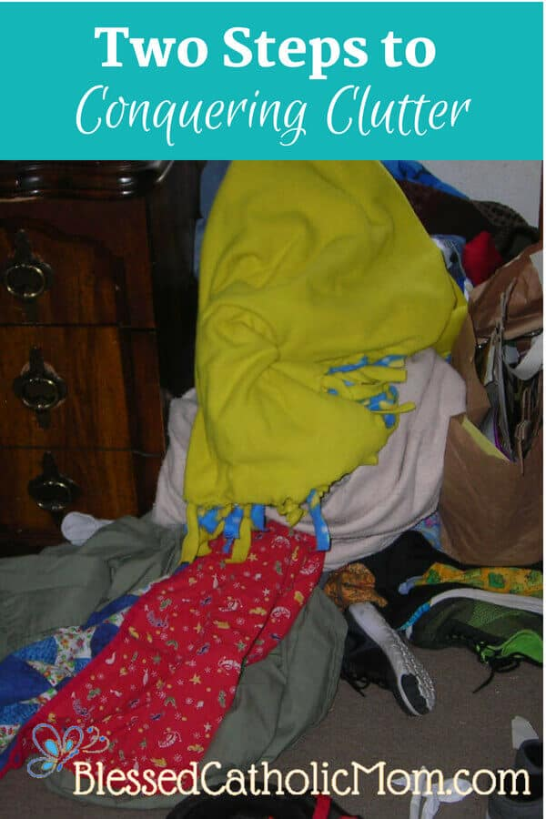 Image of clutter in a child's room.