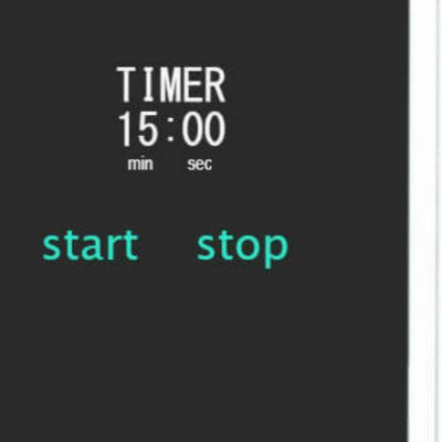 The Magic of 15 minutes. Image of a timer set for fifteen minutes.