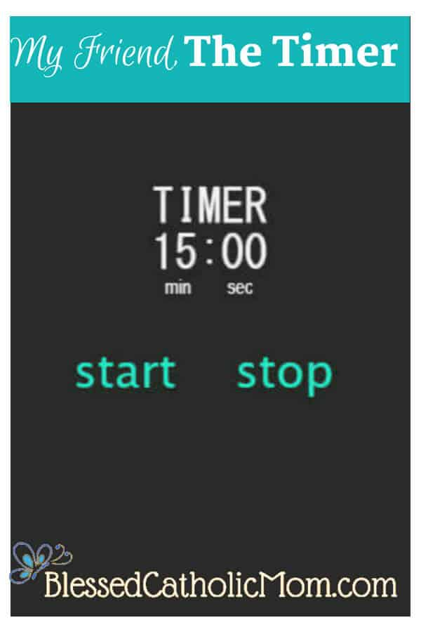 Are you looking for a little guidance to help keep you focused to get something done? A timer is a great tool you can use to help you out. Image of a timer set for 15 minutes. #timer #productivity