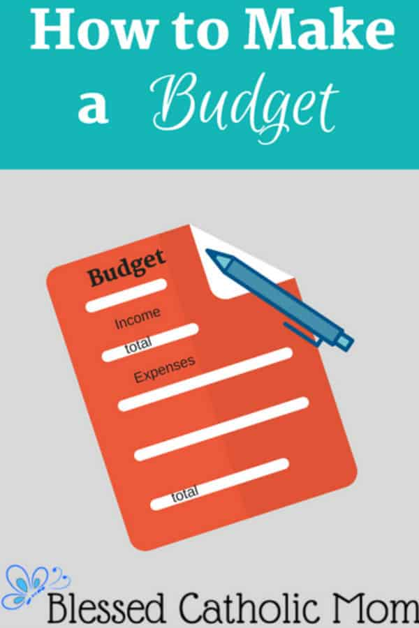 How to make a budget is not difficult. Implement these easy steps and you will have a working budget that is easy to manage. Image of a graphic called How to Make a Budget with a graphic if a budget sheet with income and expenses to be logged and a pen on it. #budget #howtomakeabudget