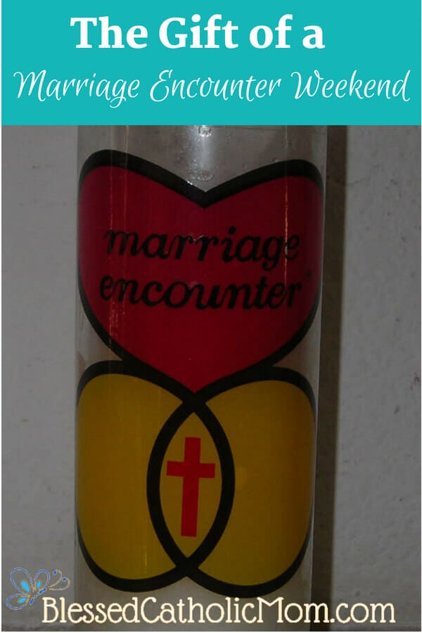 Image of Marriage Encounter logo: One heart above two interlinking rings with a cross in the section where the rings intersect.
