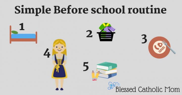 A Simple 5 Step Before School Routine to Make Mornings Easier