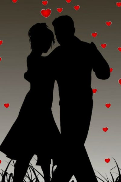 Image of a silhouette of a couple dancing.