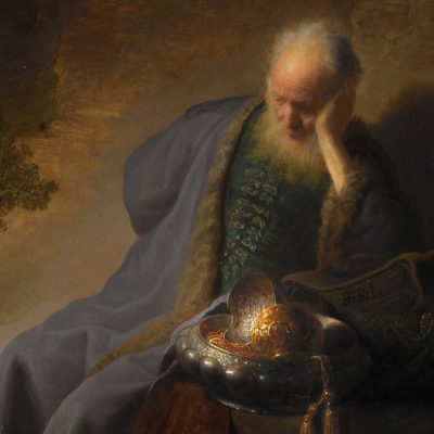 Image of a painting of the prophet Jeremiah.