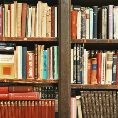Image of a bookshelf filled with books.