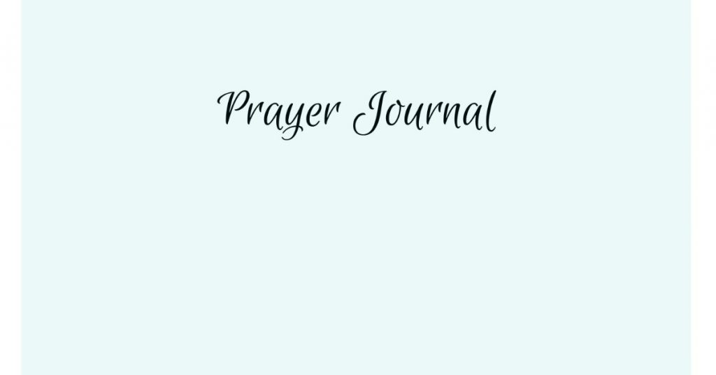 Image of the words prayer journal.