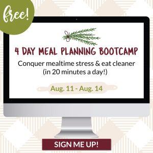 free four day Meal planing challenge graphic