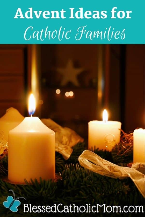 Image of four white candles in an Advent wreath.