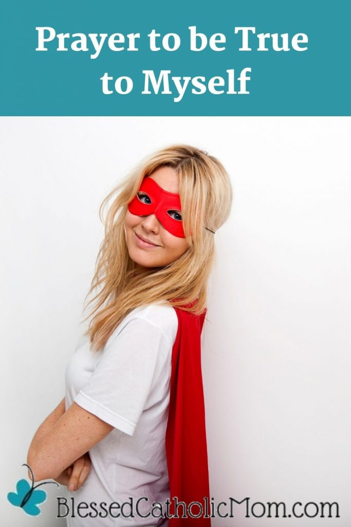 Side view portrait of a confident woman in superhero costume of a red mask and a red cape against white background.